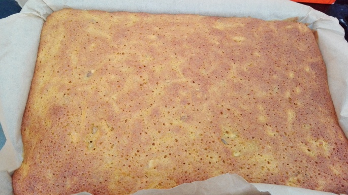 golden browned carrot cake fresh from the oven