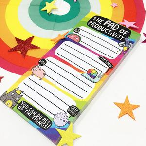 rainbow pad of productivity by katie abey on etsy