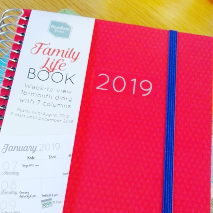 New Family Life Book 2019 by Boxclever Press Diary Red
