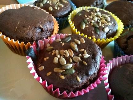 Gluten free sugar free dairy free chocolate breakfast muffins for a healthy breakfast