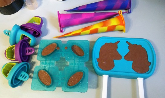 dairy free vegan ice lolly recipe moulds used - silicone