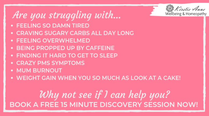 are you struggling with feeling so damn tired, craving sugary carbs all day long, feeling overwhelmed, being propped up by caffeine, finding it hard to get to sleep, crazy pms symptoms, mum burnout and weight gain when you so much look at a cake! Why not see if I can help you? Book a free 15 minute discovery session now!