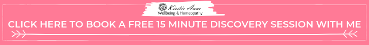 Book a free discovery session with Kirstie Anne - holistic wellbeing mentor and homeopath