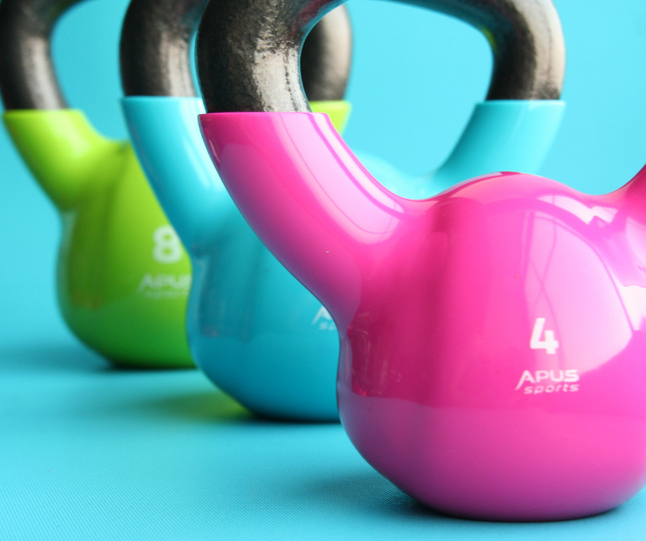 top tips for exercising as a busy mum - kettlebells