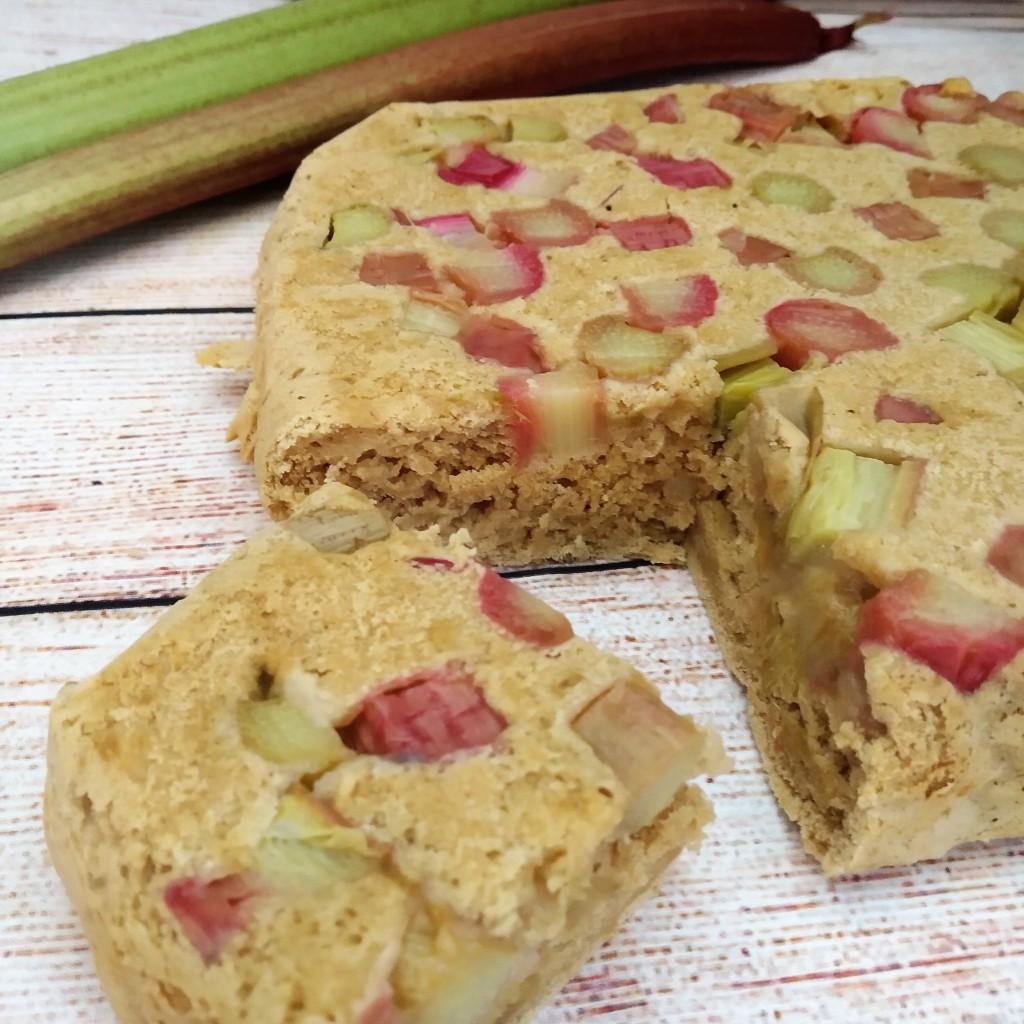 gluten free rhubarb upside down cake sugar free vegan dairy free recipe