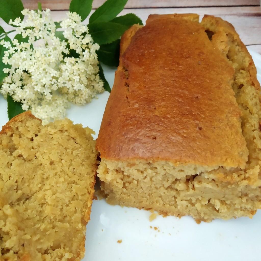 gluten free vegan elderflower & lemon drizzle cake