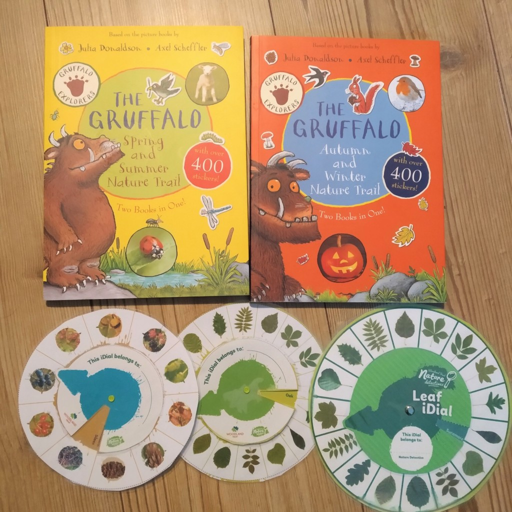 gruffalo nature trail sesonal scavenger hunt books and idials from the woodland trust. Great for home education nature walks.